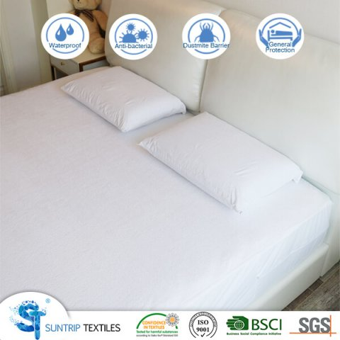 Cotton Terry Zipper Waterproof Bed Bug Mattress Cover