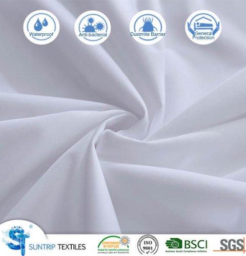 Basic White Knitting Waterproof Mattress Cover