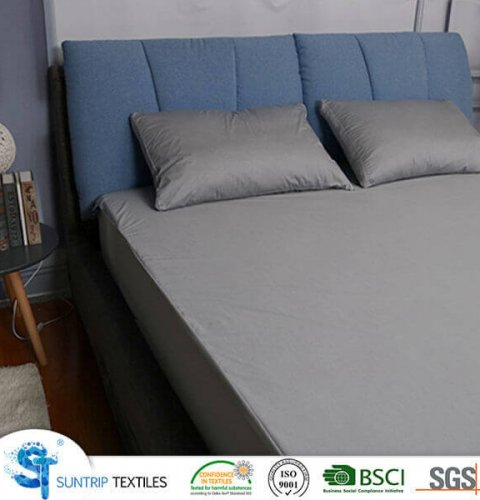 Grey Tencel Jersey Mattress Protector