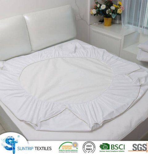 Cooling Polyester Pongee Waterproof Mattress Protector
