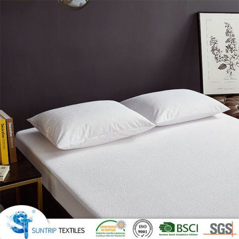 Cotton Long Loop Terry Waterproof Mattress Protector