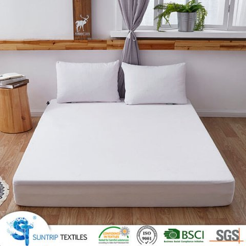Cotton Short Loop Terry Waterproof Mattress Protector
