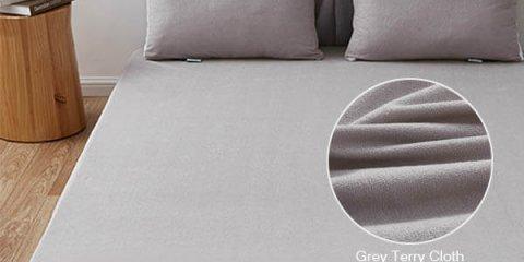 Light Gray Terry Cloth Waterproof Mattress Protector