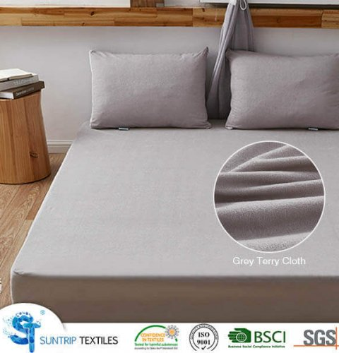 Light Gray Terry Cloth Waterproof Mattress Protector