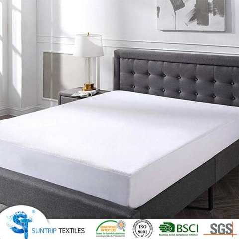 Microfiber Terry Cloth Breathable Fitted Mattress Cover