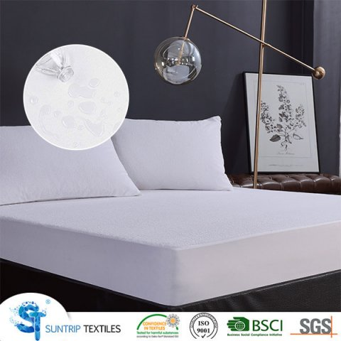 Polyester Terry Cloth Waterproof Mattress Protector