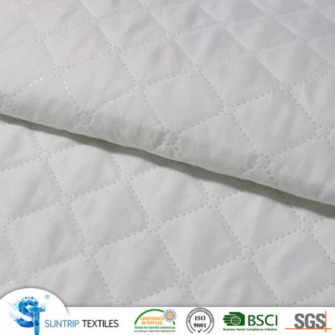 ultrasonic fabric 65gsm micro peach with 60gsm poly filling with 20gsm PP nonwoven