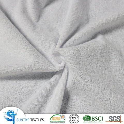 125gsm Russian waterproof terry cloth laminated with TPU