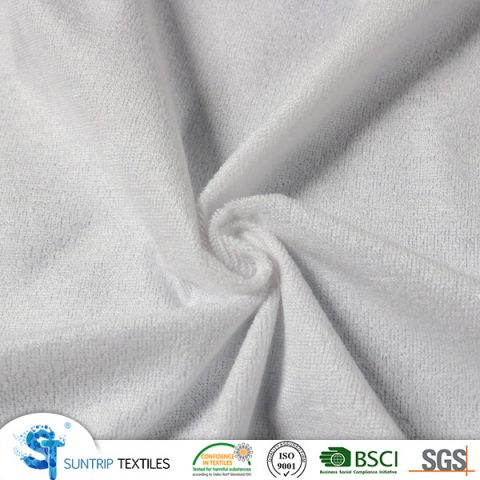 190gsm bamboo terry cloth laminated with TPU