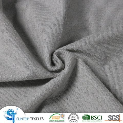 140gsm waterproof light grey terry colth laminated TPU fabric