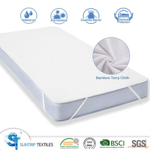 Hypoallergenic Bamboo Terry Cloth Mattress Pad Cover