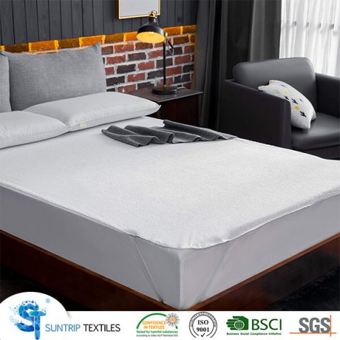 Anti Allergy Cotton Terry Cloth Mattress Pad Cover