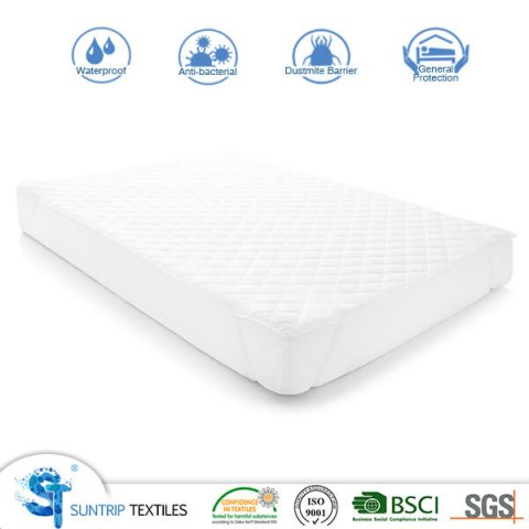 Polyester Pongee Quilted Mattress Pad 4 Corner with Band