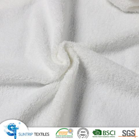 220gsm weft coral fleece laminated with TPU
