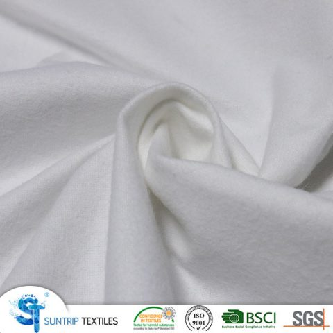 140gsm 100% cotton fleece laminated with TPU
