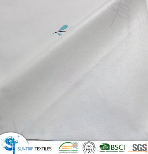 190gsm printed pattern 100% cotton jersey fabric laminated with 2S TPU