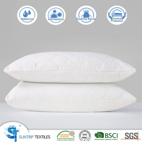 White Quilting Waterproof Bed Bug Pillow Protector