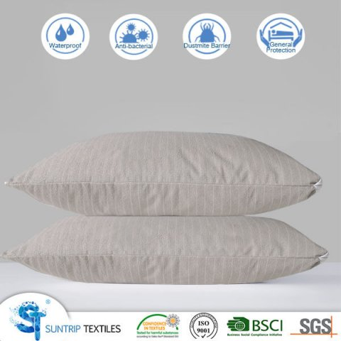 Premium Waterproof Cotton Terry Pillow Protector Cover