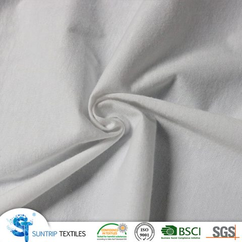 100gsm 100% cotton jersey fabric laminated with TPU