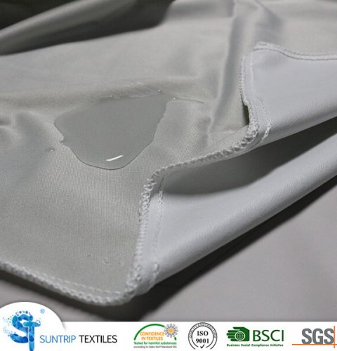 light grey knitted fabric laminated with TPU