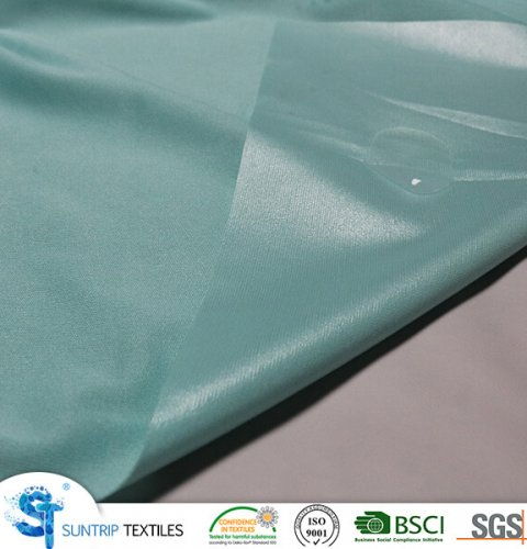 150gsm green poly knitted fabric laminated with TPU