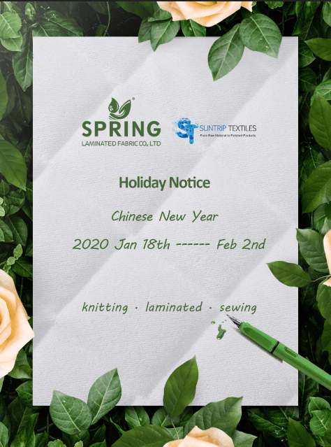 SUNTRIP Holiday Notice